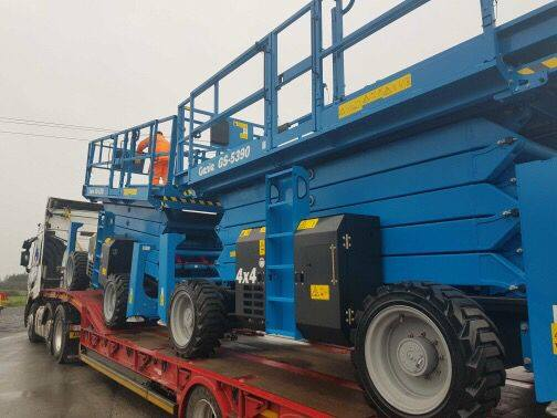 genie scissor lift at Sleator Plant
